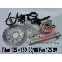 Kit Freio Á Disco Honda Titan150 2004 Até 2008 - Completo