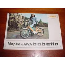 Folder Raro Motocicleta Ciclomotor Jawa Babetta