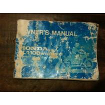 Manual Proprietário Goldwing Gl1100 Promoção ! ! !