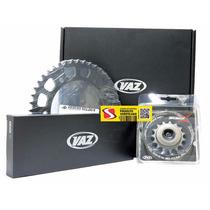 Kit Relação Completa Vaz Xtreme Aço 1045 Cbx250 Twister