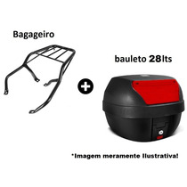 Baú Bauleto 28 Lts Bagageiro Reforçado Nxr 125-150 Bros 2008