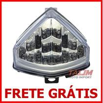 Lanterna Led Cristal C/pisca - Honda Hornet - 2012 2013 2014