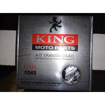 Kit Relação King Xtz 125 - Aço 1045 Reforçada