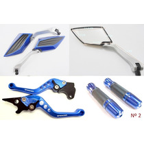 Kit Retrovisor Manete Spencer +manopla Fazer 250 Tenere 250