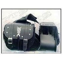 Kit Alforjes Shadow 600-capa Tanque+ferramentas+franjas+bota