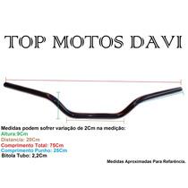 Guidão Moto Honda Nxr 150 Bros Até 08 Preto - 3709