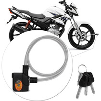 Trava Universal Cabo De Aço Bike Moto Estepe C/ Sirene 90 Cm