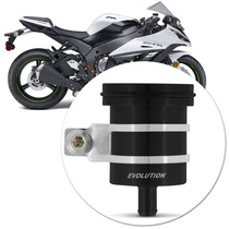 Reservatorio Oleo Esportivo Moto Traseiro Aluminio Preto