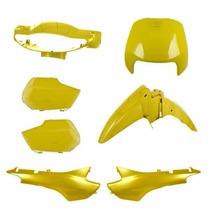 Kit Carenagem Completa Biz 100 Amarelo 98/99 Modelo Original