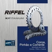 Kit Relação Transmissão Riffel Yamaha Ys 150 Fazer 2013/xx