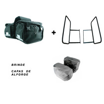 Kit Alforge Lateral + Afastador Yamaha Xt660 R Brinde Capas