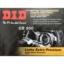 Kit Relação (transmissão) Cb 500 Com Retentor - Did (11329)