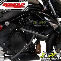 Protetor Motor E Carenagem Preto Fosco Er-6n Até 2012 Kawasa