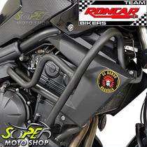 Protetor Motor E Carenagem Preto Fosco Versys 650 Kawasaki