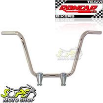 Guidão Roncar C/ Taças / Riser Cromado Shadow 600 - Honda