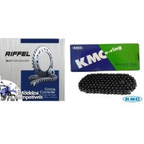 Kit Relação Hornet Coroa+pinhão Riffel + Corr Ret Kmc N Xj6