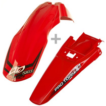 Kit Paralama Dianteiro Traseiro Vermelho Crf230 Universal