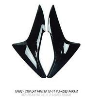 Tampa Lateral Fan150 2009 A 2011 Preto Par S/adesivo