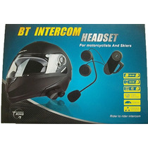 Intercomunicador Bluetooth Capacete Moto Gps Mp3 - Mod Novo