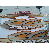 Kit Adesivo Do Tanque Honda Cg Titan 125 2002 Ks - Vermelha