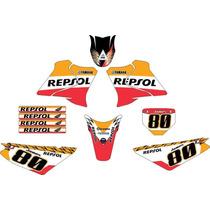Kit Adesivos Gráfico Moto Trilha Crf Tornado Xtz Stx Xr Bros