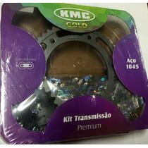 Kit Relação Kmc Nxr 150 Bros 2009 E/ Diantretentor Completo