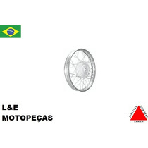 Roda Moto Cromada Montada Dianteira Ybr/factor 125