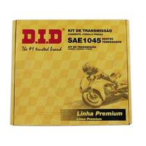 Kit Relação Did Cbx250twister C/ Retentor 49960 Dourada Rs1