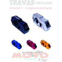Trava Moto De Punho Manete Tecklock Gratis Trava Capacete