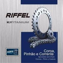 Kit Transmissão / Relação Xlr 125 Riffel Aço 1045