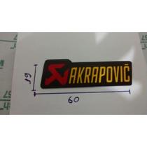 Emblema Adesivo Alumínio Akrapovic