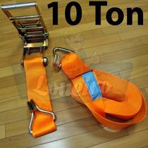 Super Catraca Cinta 13 Mts Amarrar Carga P/ 10.000 Kg 10 Ton