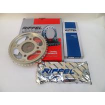 Kit Relação Honda Cg Titan 150 Ks/es/esd/fan/mix - Riffel