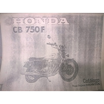 Manual Peças Part List Honda Cb 750 Cb750 K E F Four 500 550
