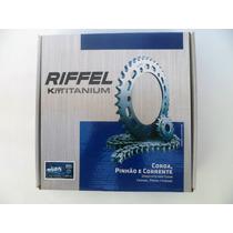 Kit Relação Transmissão Honda Xre300 Aço 1045 - Riffel