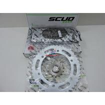 Kit Relação Transmissão Scud Yamaha Fazer 250 Promoção!!!