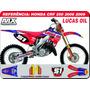 Kit De Adesivos Cr 125 250 Lucas Oil - Qualidade 3m