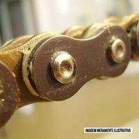 Emenda De Corrente Rk Gb 520 Mxu (clf - Rebite) Dourado Rs1