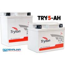 Bateria Tryton Try 5 Ah Moto Biz 125 Ks Titan Fan Cg 150 Job