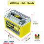 Bateria Mbr 8vp - 8ah Moto Cb500 Shadow 650 Xt 600 Kansas