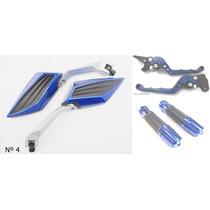 Kit Retrovisor Manopla+manete Cg Titan 150 Freio Disco /lona