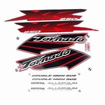 Adesivo Xr250 Tornado 2003 Vermelha Kit