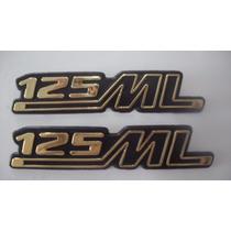 Emblema (kit) Tampa Lateral Ml 125 79 A 82 Bolinha Honda