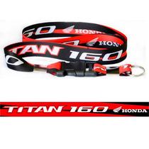 Chaveiro Cordão Com Fecho Moto Honda Titan 160