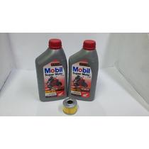Kit Troca Oleo/filtro Honda Xre Cb 300 Mobil 10w30 Autentic