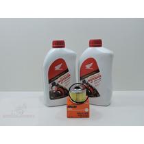 Kit Troca Oleo Filtro Fram Xre 300 Cb300 Genuino Honda 10w30