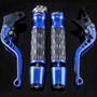 Kit Manetes Manoplas Pesos Ironwing Cb300 R Twister Azul