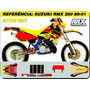 Kit De Adesivos-rmx 250 Rockstar Rby-qualidade 3m
