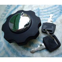 Tampa Do Tanque Cg125 Bolinha Today Cromada C/ 2 Chave Honda