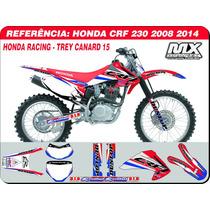 Kit De Adesivos - Crf 230 - Honda Racing - Qualidade 3m